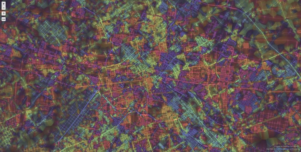 Berlin 1024x517 Ten Cities Visualized by the Street Patterns Berlin