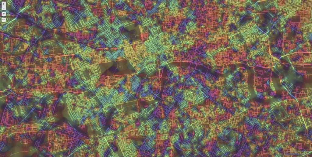 London 1024x517 Ten Cities Visualized by the Street Patterns London