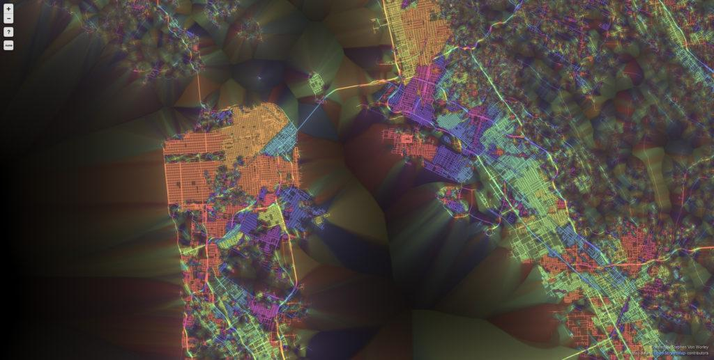 SF 1024x517 Ten Cities Visualized by the Street Patterns San Francisco
