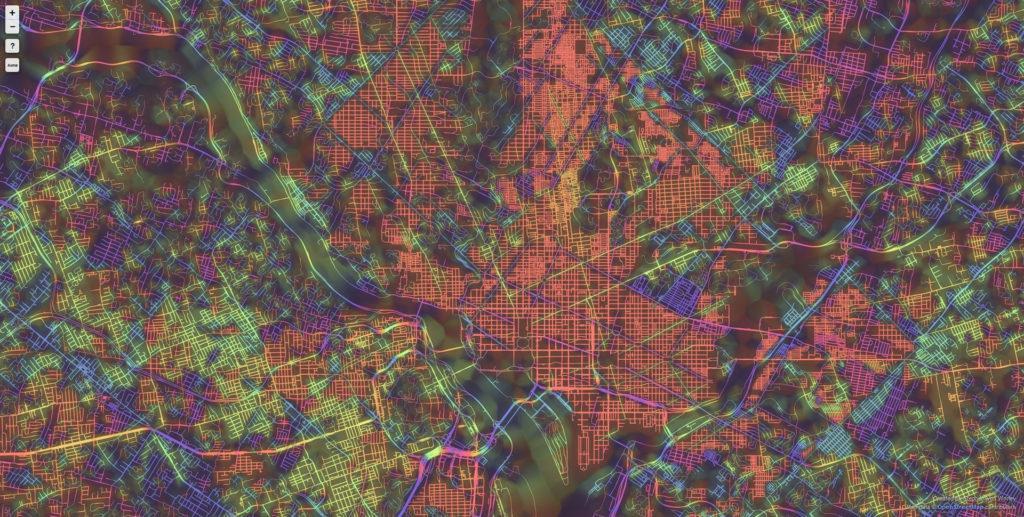 Washington 1024x517 Ten Cities Visualized by the Street Patterns Washington