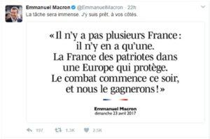 macrontweet2 300x199 Who is Emmanuel Macron?